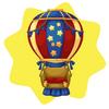 Blue hot air balloon seat