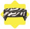 Zebra print white stool