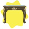 Blue versailles table