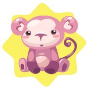 Pink monkey plushie