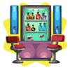 Luxury lounge bar