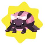 Cute pink spider plushie