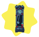 Haunted grandfather clock