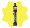 Elegant Black Lamp Post