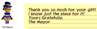 Mayor Gift