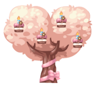 Birthday Cake Tree