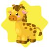 Carnival giraffe toy ride