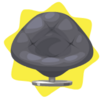 Grey lola chair