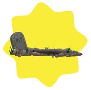 Halloween grave decor