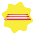 Pink Striped Beach Towel
