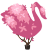 Homegrown Pink Topiary Swan