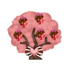 Chocolate strawberry tree