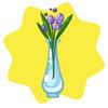 Tall vase of flowers