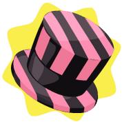 Little black striped top hat