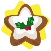 Iced star ornament