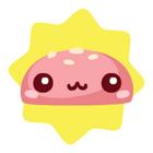 Cute burger bun