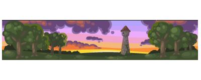 Rapunzel tower wallpaper expanded