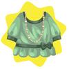 Vintage lady green dress