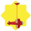 Toy shop spinning airplane