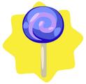 Berry lollipop