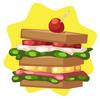 Camping club sandwich