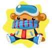 Winter teddy