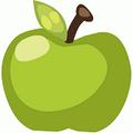 Homegrown green apple