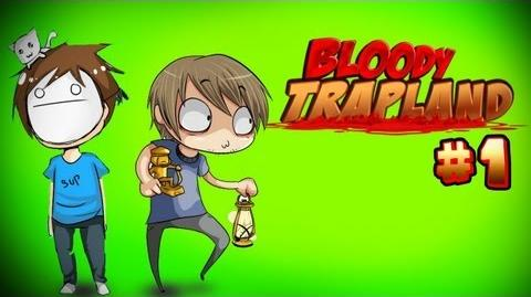 DEADLY BROFISTS! - Pewds & Cry Plays Bloody Trapland - Part 1-0