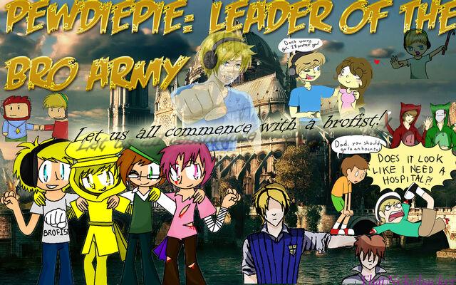 File:Pewdiepie leader of the bro army by thatnekohacker-d5pwmuj.jpg