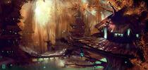 Elven village by tyler james crossp 1458656110