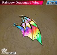 Rainbow Dragongod Wing