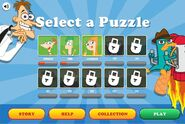 Find Perry - Puzzle Selection Menu