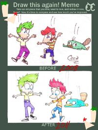 Draw this again meme- PnF, by Cece-luvfop