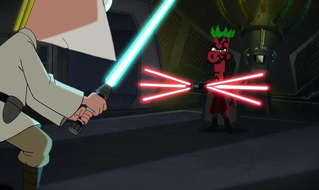 File:Darth Ferb has a six bladed lightsaber.JPG