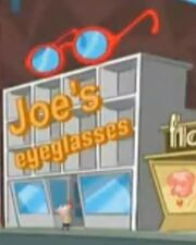 Joe's eyeglasses
