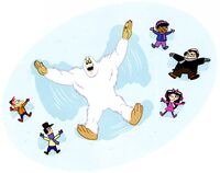 Yeti snow angel.jpg