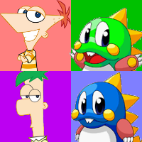 File:PnF and Bubble Bobble avatar.png