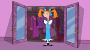 Candace in a pinafore
