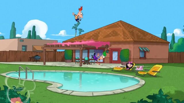 File:Phineas and Ferb fall into Isabella's pool.jpg