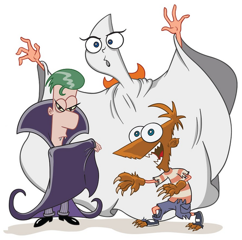 File:Phineas and Ferb and Candace-Vamoire Ghost Werewolf.png
