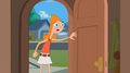 Candace entering her house