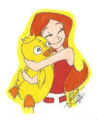 I Love You, Ducky Momo, by digitalstitch626