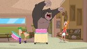 Gorilla in the cake