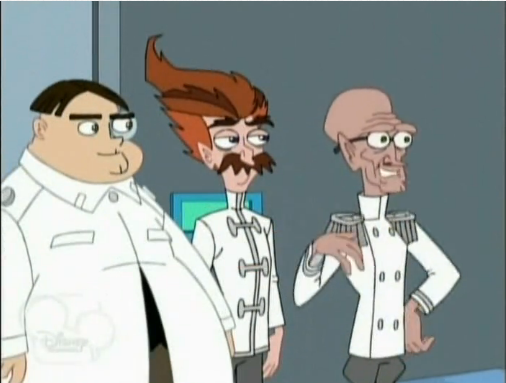 File:Dr. Bloodpudding, Unnamed fat scientece and Rodney.png