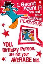 Hallmark 'Not your average kid' birthday card