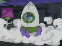 Perry in spaceship