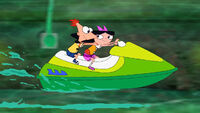 Phineas & Isabella on Jetskis
