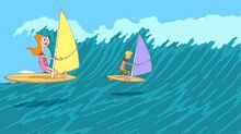 Candace and Jeremy headed into the wave.jpg