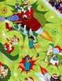 Phineas and Ferb Christmas wrapping paper 2013 - green