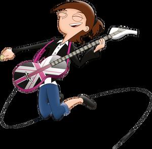 Eliza playing guitar, by markmak